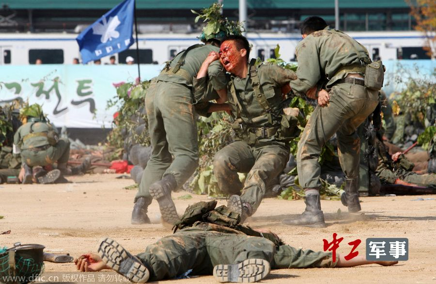韩国再现春川战役战场情景