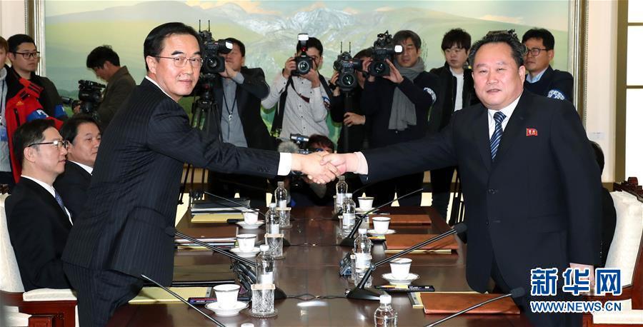 (國際)(1)韓朝在板門店舉行高級別會談