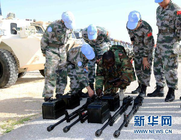 中國赴黎維和部隊通過聯合國裝備核查(組圖)